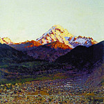 In the mountains. 1890, Vasily Vereshchagin