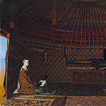 Inside the yurt rich Kirghiz. 1869-1870, Vasily Vereshchagin