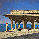 Vasily Vereshchagin - Evening at the lake. One of the pavilions on the waterfront in Marble Radzhnagare (Principality of Udaipur). 1874