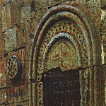Entrance door to the church under Kazbek. 1897, Vasily Vereshchagin
