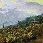 Type Crimean mountains, Vasily Vereshchagin