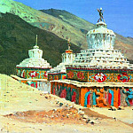 Posthumous monuments in Ladakh. 1875, Vasily Vereshchagin