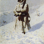 Vasily Vereshchagin - Soldier in the snow. 1877-1878