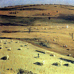Vasily Vereshchagin - Place Battle July 18, 1877 before Krishinskim fort Plevna. 1877-1880