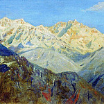 Himalayas. Main peak. 1875, Vasily Vereshchagin