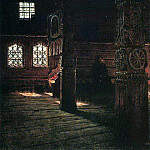 Internal view of the wooden church of St. Peter and Paul in Puchuge. 1894, Vasily Vereshchagin