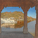 Radzhnagar. Marble, adorned with bas-reliefs on the lake embankment in Udaipur. 1874, Vasily Vereshchagin