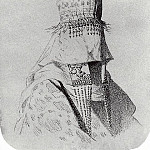 Kirghiz-bride dress with a hat covering the face. 1869-1870, Vasily Vereshchagin