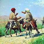 Mullah Rahim and Mullah Karim on the way to the market quarrel. 1873, Vasily Vereshchagin