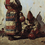 Vasily Vereshchagin - Uzbek sells cookware. 1873