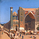 Vasily Vereshchagin - Madrasah Shir-Registan Square in Samarkand. 1869-1870