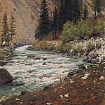 Vasily Vereshchagin - Mountain stream in Kashmir. 1875