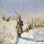 Vasily Vereshchagin - Snow trenches (Russian positions on the Shipka Pass). 1878-1881