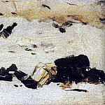 Vasily Vereshchagin - frozen corpses of Turkish soldiers. 1877-1878