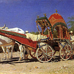 Cart rich people in Delhi. 1875, Vasily Vereshchagin