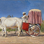 cart in New Delhi. 1875, Vasily Vereshchagin