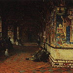 porch of the church of John the Baptist in Tolchkovo. Yaroslavl. 1888, Vasily Vereshchagin