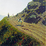 Vasily Vereshchagin - Nomadic road in the mountains of Tau. 1869-1870