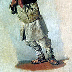 Burlak who hold hands on the strap. 1866, Vasily Vereshchagin