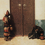 Vasily Vereshchagin - At the door of the mosque. 1873