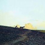 Evening at the plow. 1883, Isaac Ilyich Levitan