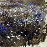 flowering meadow. 1890, Isaac Ilyich Levitan