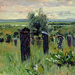 Landscape with beehives, Isaac Ilyich Levitan