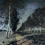 Isaac Ilyich Levitan - Moonlit Night. Highway. 1897-1898