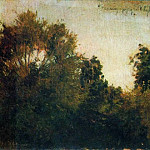 Trees and bushes. 1880, Isaac Ilyich Levitan