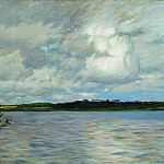 Lake. Gray day. 1895, Isaac Ilyich Levitan