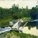 The Pool 2. 1891, Isaac Ilyich Levitan