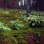 Isaac Ilyich Levitan - ferns in the woods. 1895