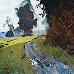 Isaac Ilyich Levitan - Evening. Road. 1881-1882