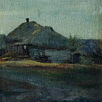 Village. Grey day, Isaac Ilyich Levitan