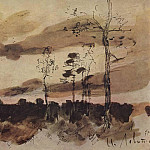 Isaac Ilyich Levitan - Sunset. Edge of the Forest. 1900