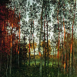 Isaac Ilyich Levitan - Last rays of the sun. Aspen wood. 1897