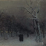 Isaac Ilyich Levitan - Boulevard in winter. 1883