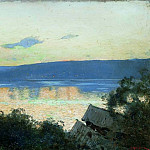 Isaac Ilyich Levitan - evening on the Volga 1. 1888