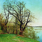 Isaac Ilyich Levitan - oak on the riverbank. 1887