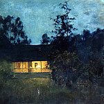 In the country at dusk. 1890, Isaac Ilyich Levitan