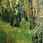 In the birch grove. 1880, Isaac Ilyich Levitan