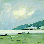 Yurevets. Cloudy day on the Volga. 1890, Isaac Ilyich Levitan