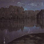 Isaac Ilyich Levitan - Night. Bank. End 1890
