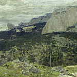Isaac Ilyich Levitan - Grey day. Mt. Crimea. 1886