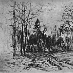 Road in the woods. Around 1899, Isaac Ilyich Levitan