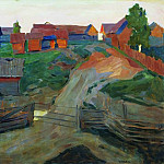 Entrance to the village. End 1890, Isaac Ilyich Levitan