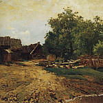 Isaac Ilyich Levitan - Savvinskaya settlement near Zvenigorod (summer species). 1884