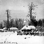 Village. Winter. 1888, Isaac Ilyich Levitan