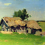 Isaac Ilyich Levitan - Landscape with cottages. 1885