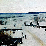 Isaac Ilyich Levitan - Village. Winter. 1877-1878